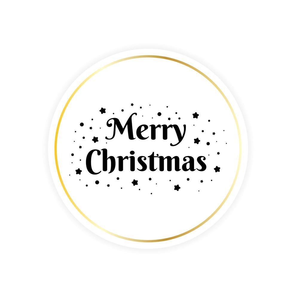 feliz navidad tarjeta de felicitación circular vector