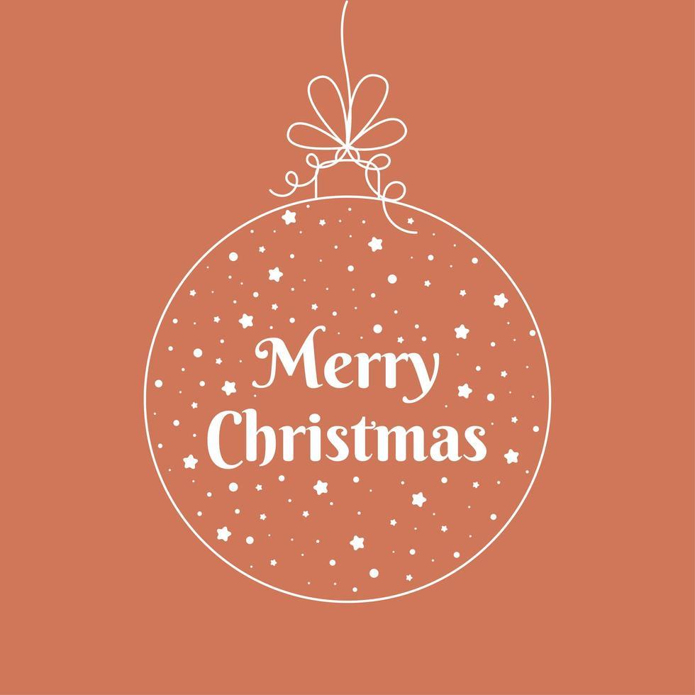 feliz navidad adorno tarjeta de felicitación vector