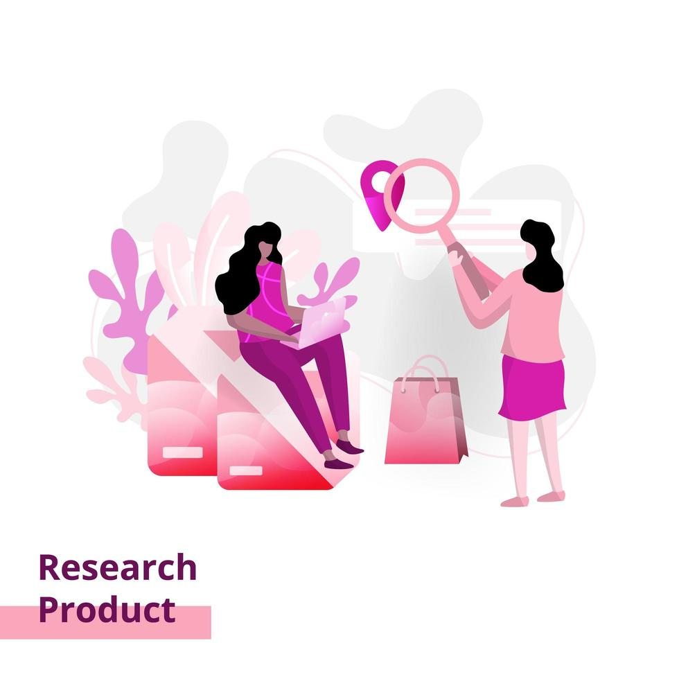 Landing Product Research page vector