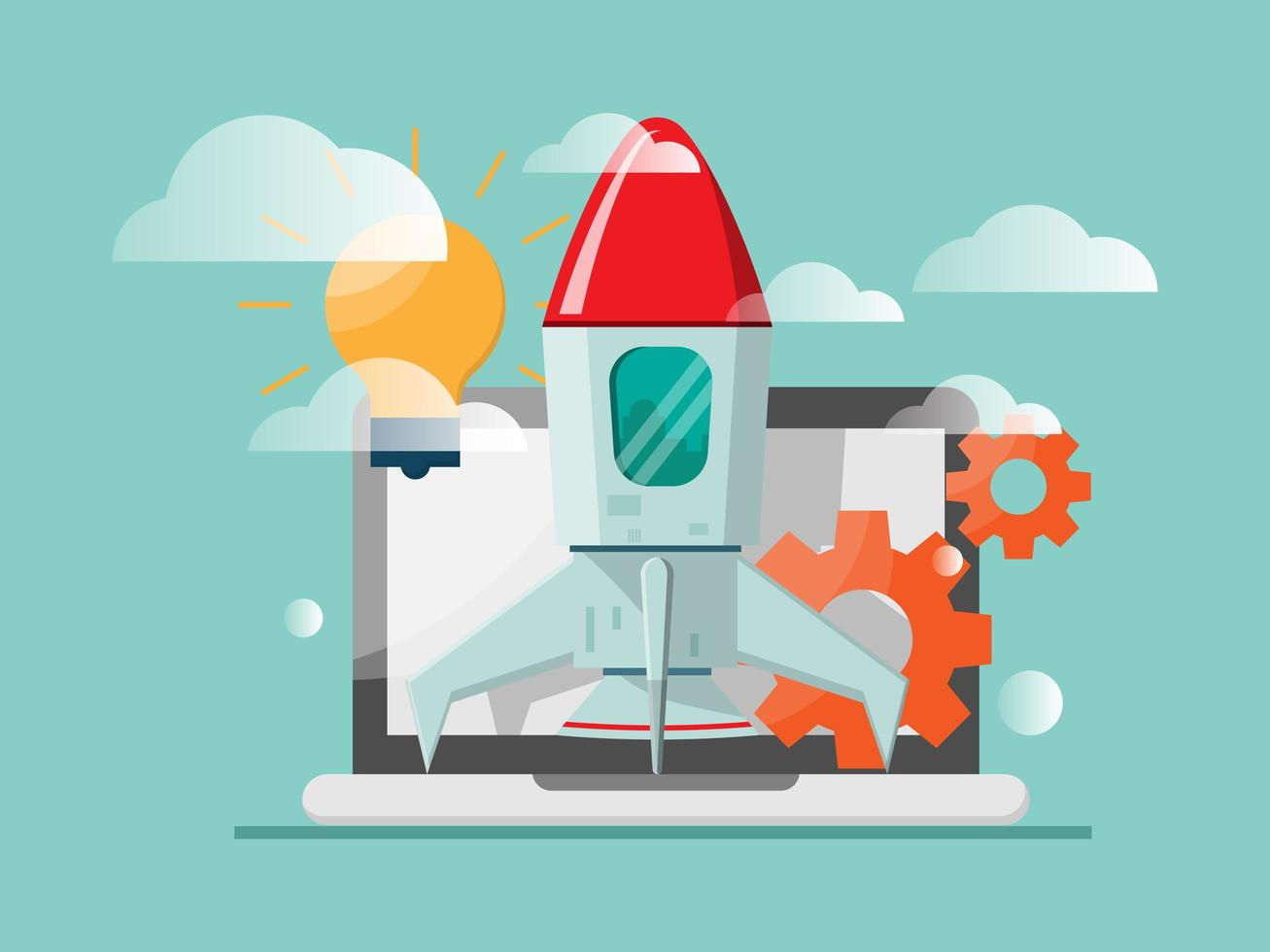 new business startup concept vector