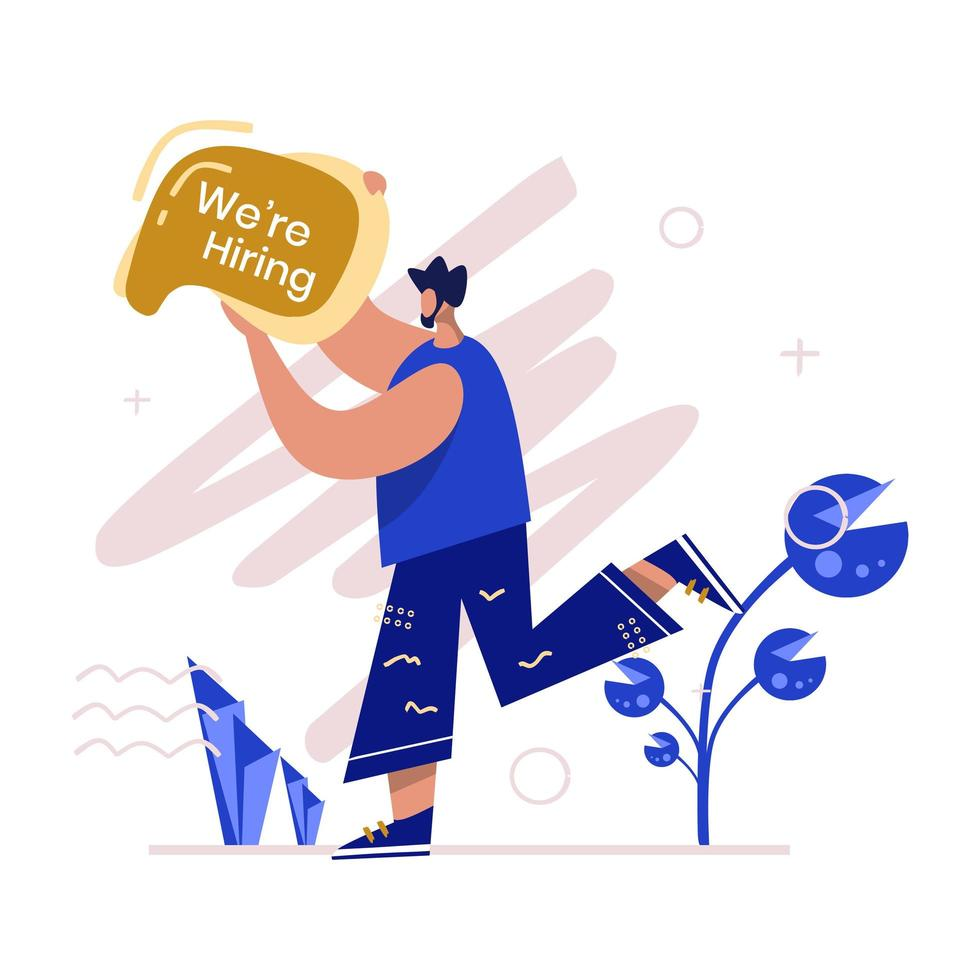 We Are Hiring Illustration vector