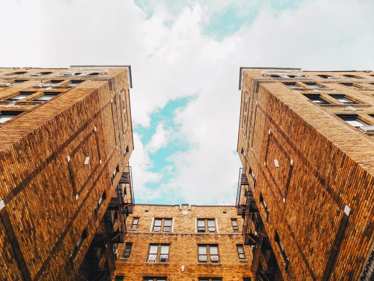 Brooklyn, NY, 2020 - Low-angle of a high-rise building photo