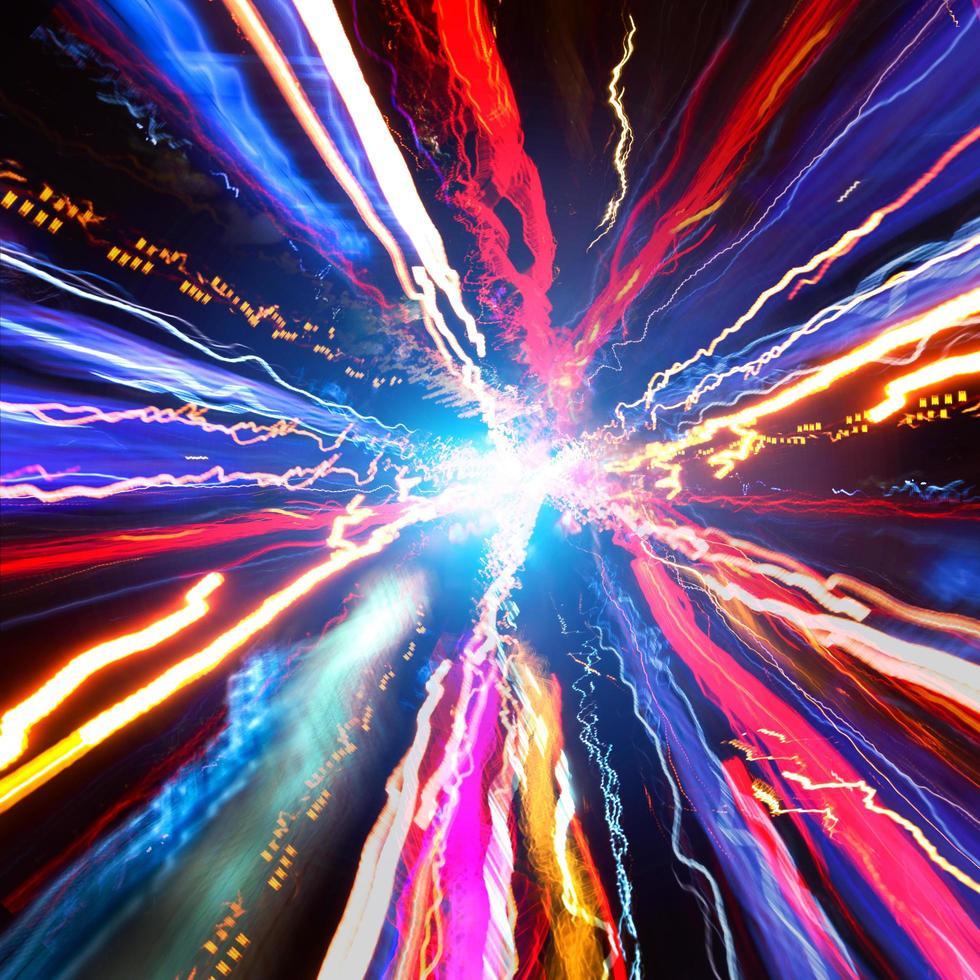 coche de iluminación de velocidad foto
