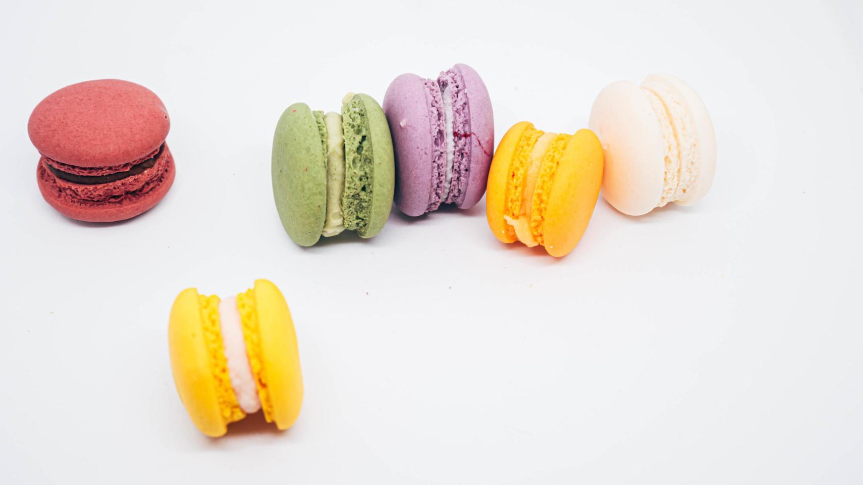 macarons de colores pastel foto