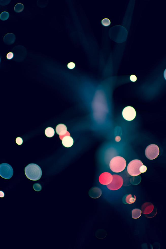 luces de colores bokeh foto