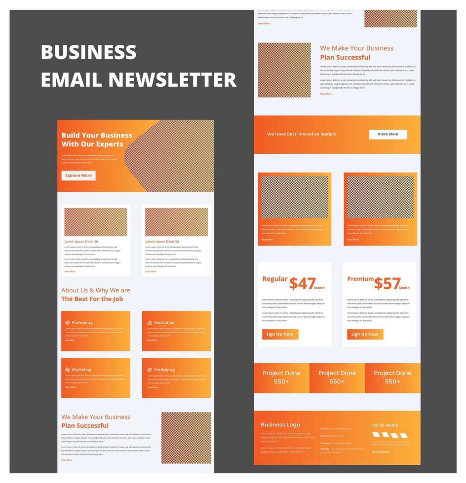 Multipurpose Business Newsletter Template vector