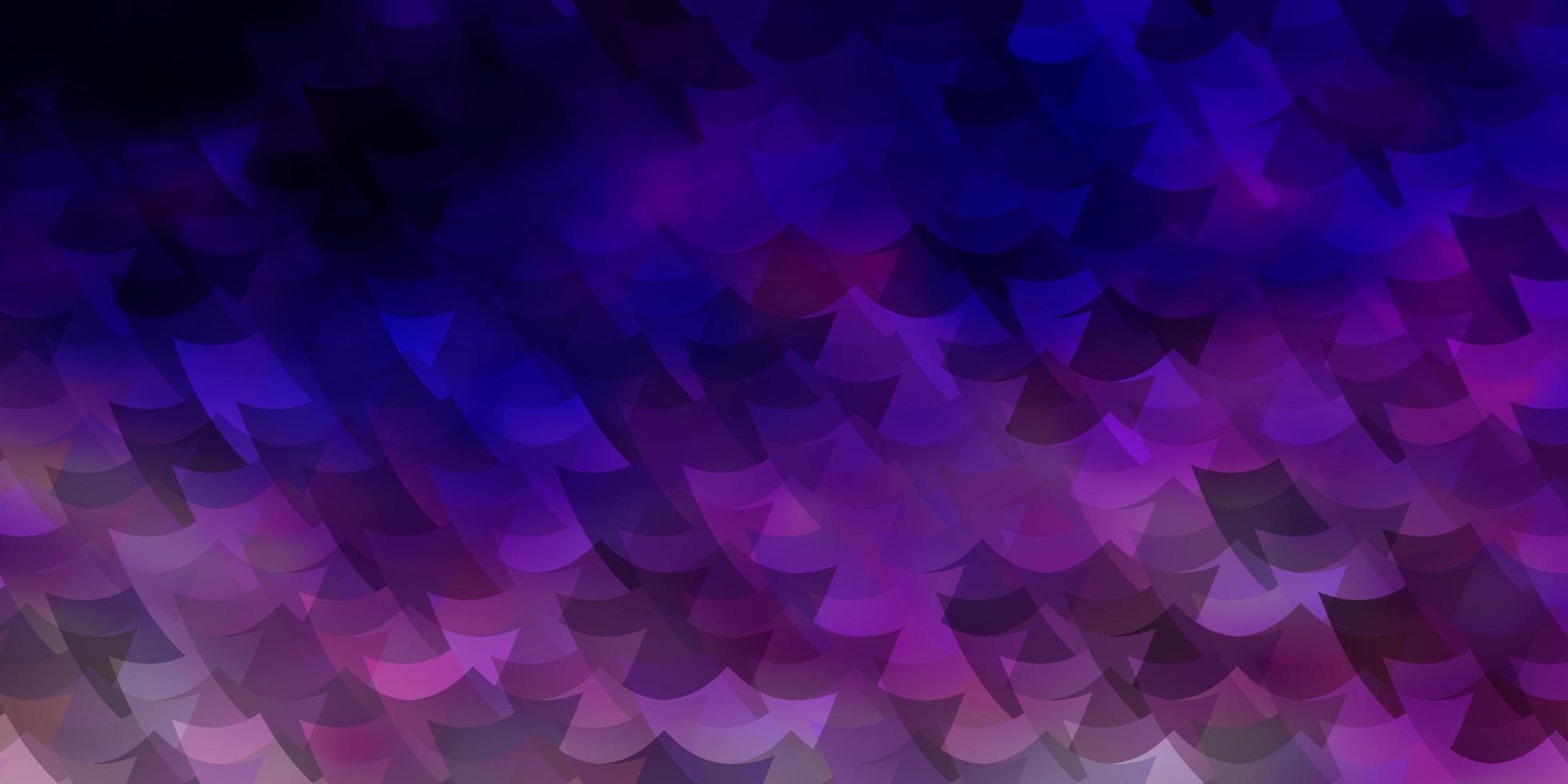Fondo de vector violeta, rosa claro en estilo poligonal.