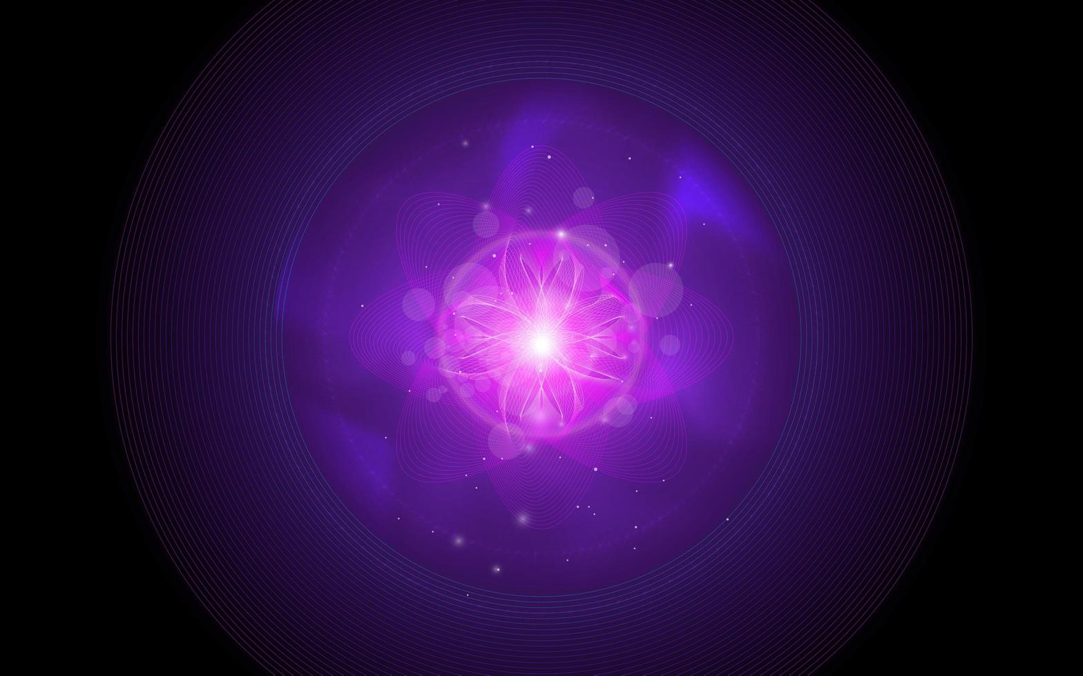 Abstract violet flower background vector