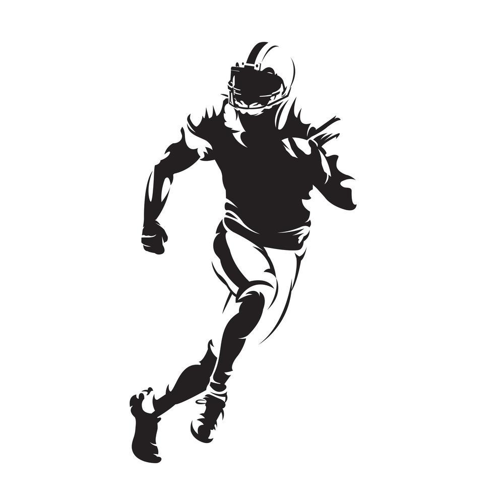 american football silhouette vector