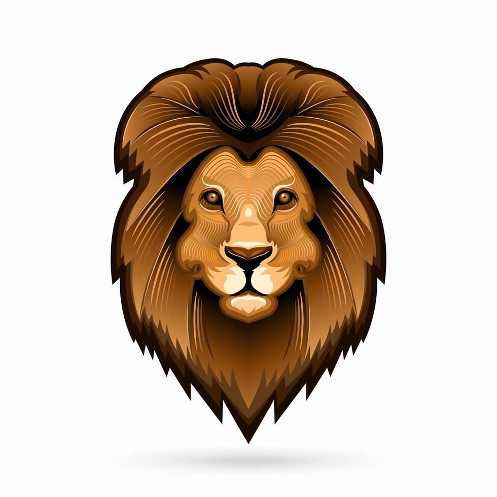 Lion head line art vector