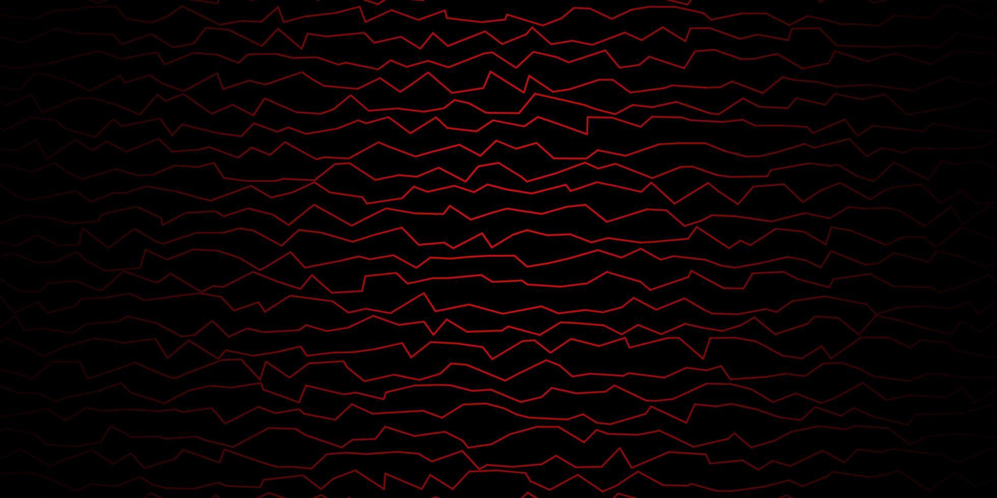 plantilla de vector rojo oscuro con líneas.