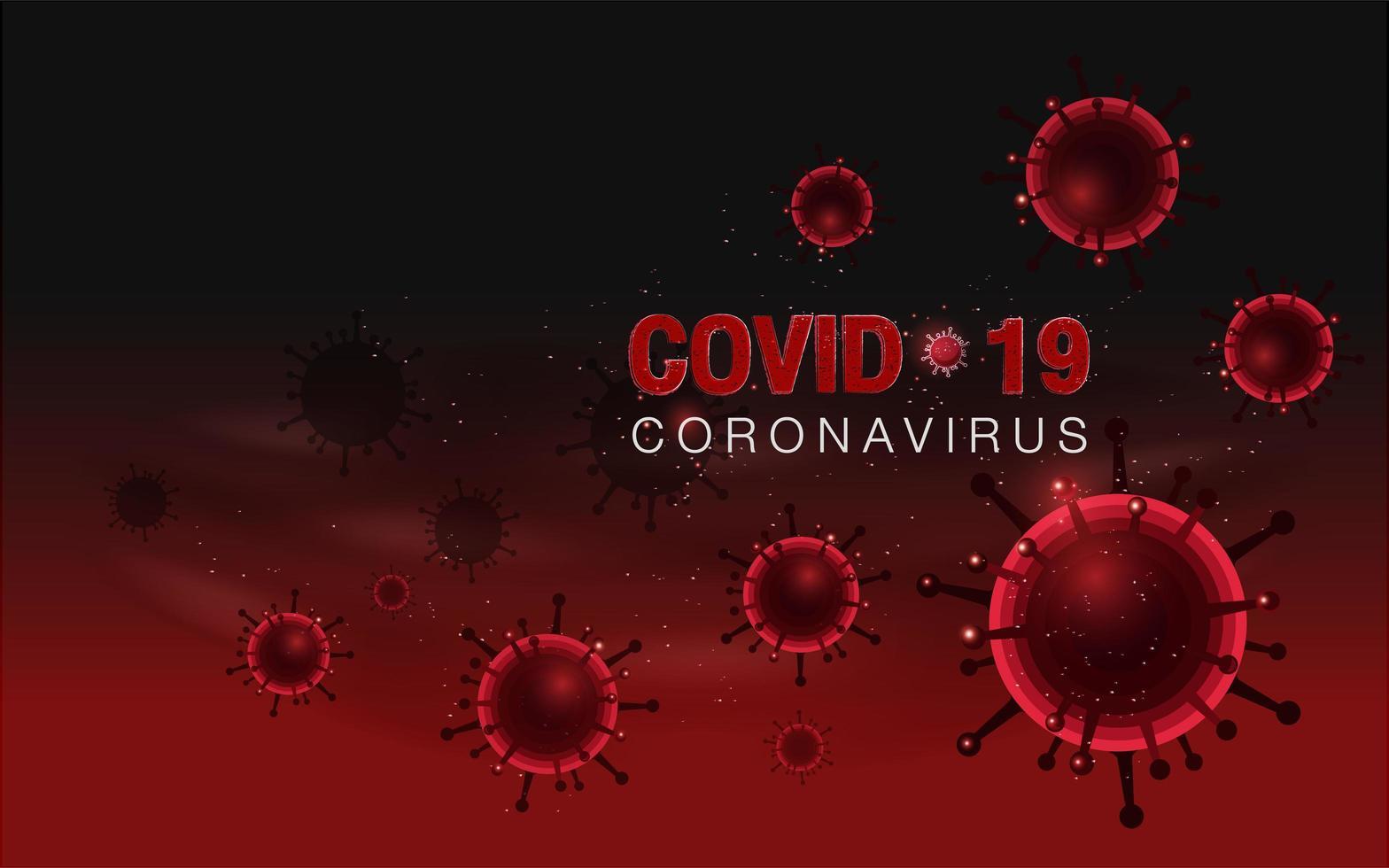 fondo rojo coronavirus covid-19 vector