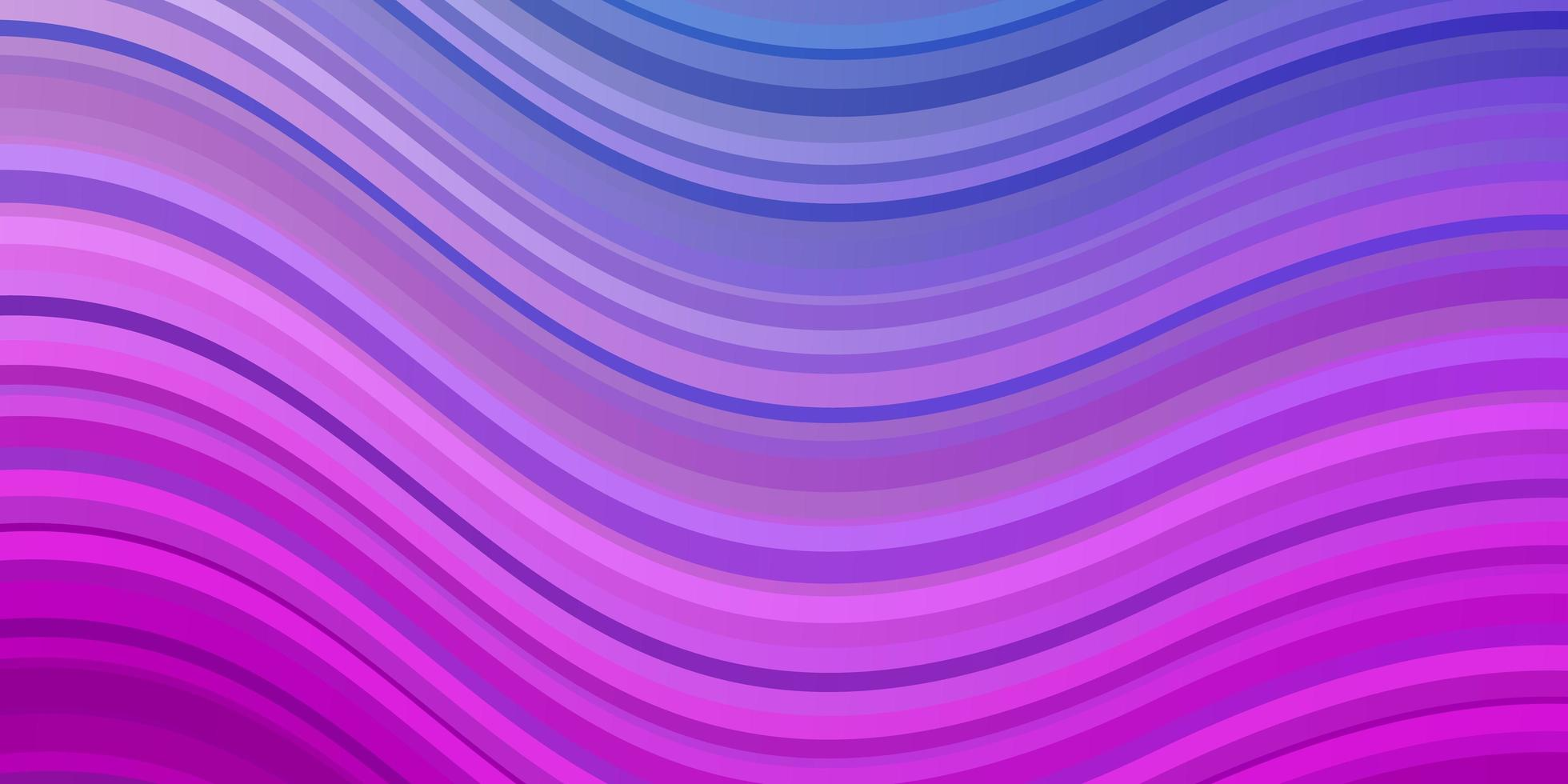 Light Pink, Blue vector background with curved lines.