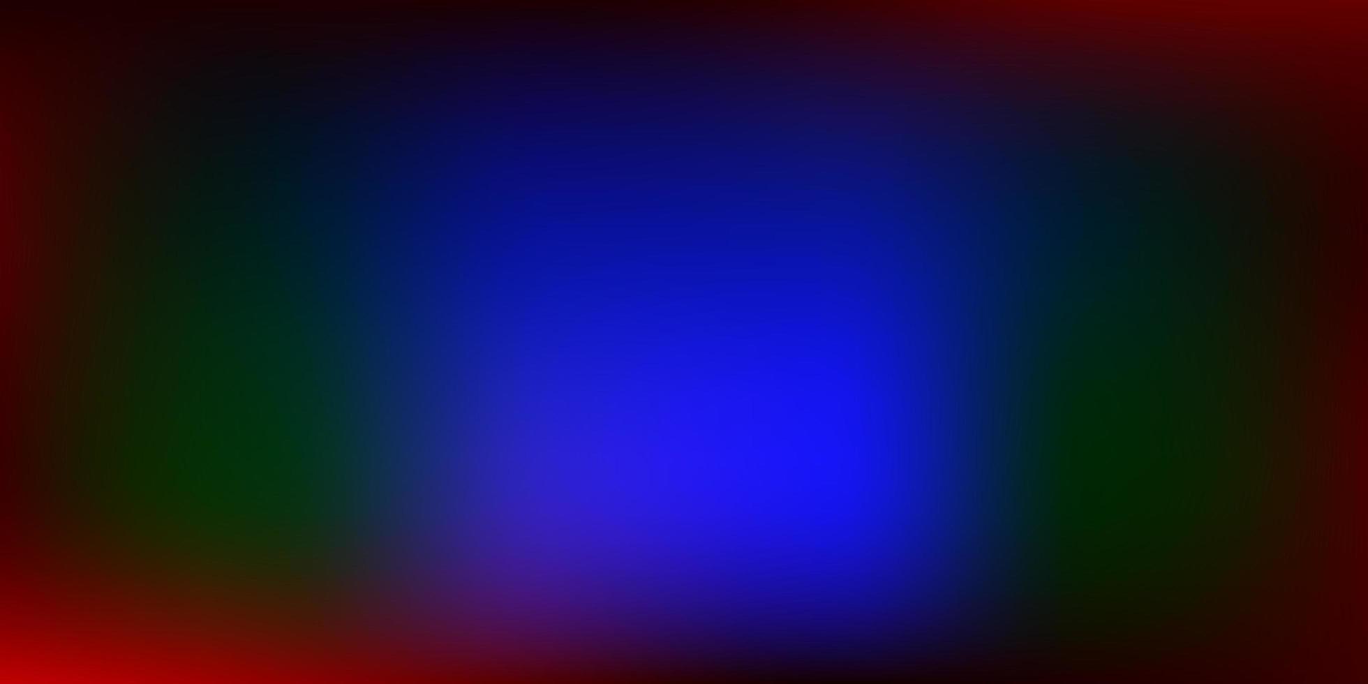Dark Multicolor vector blurred background.