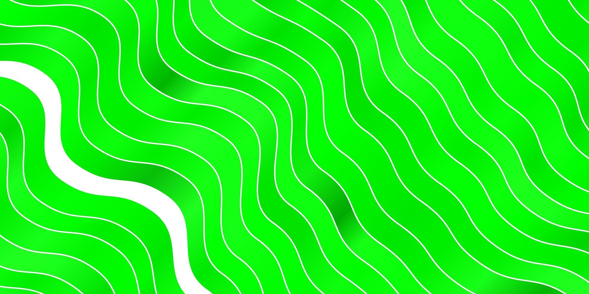plantilla de vector verde claro con líneas curvas.