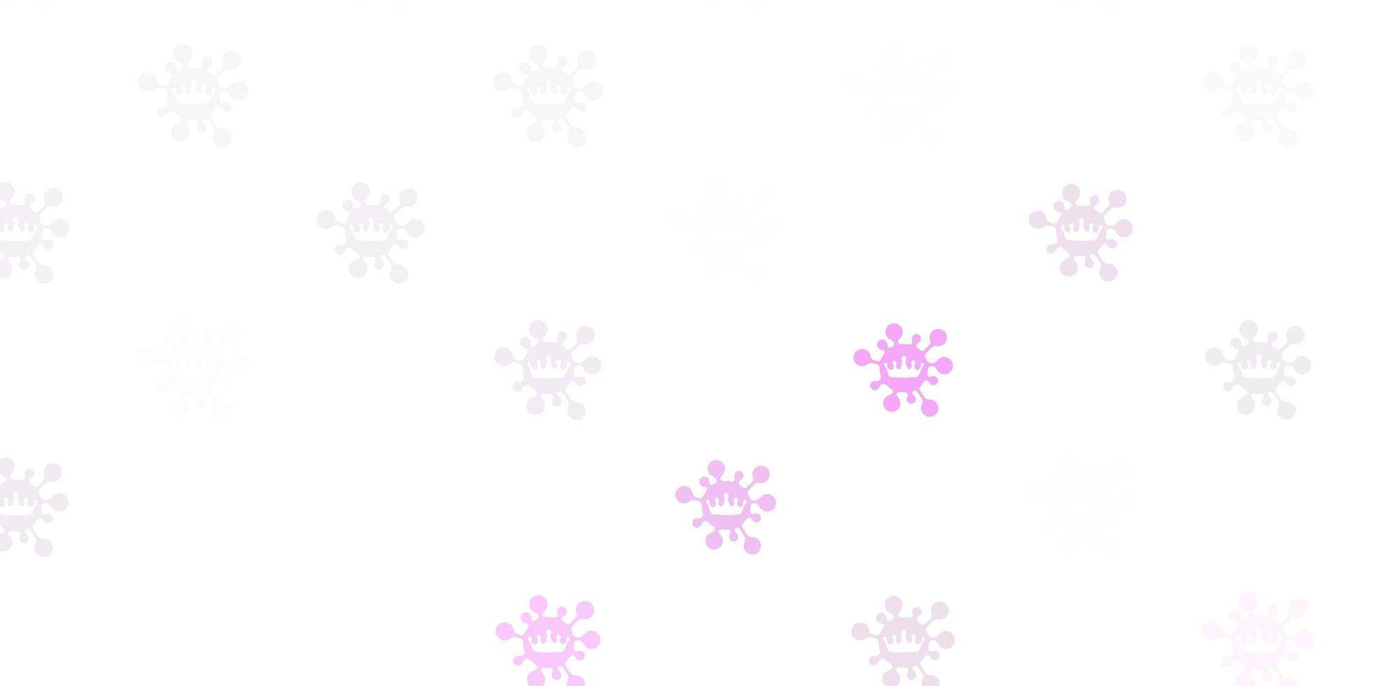 Light purple vector background with covid-19 symbols
