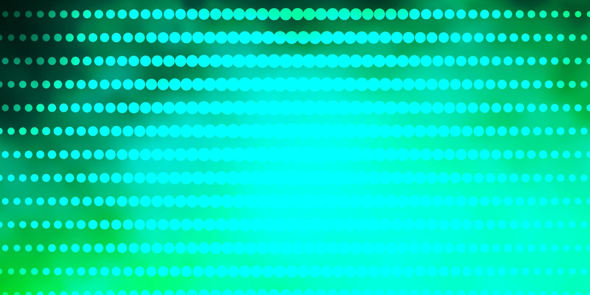 Light Green vector texture with circles.