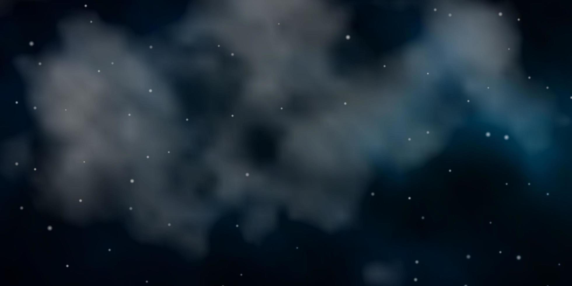 Fondo de vector verde oscuro con estrellas pequeñas y grandes.