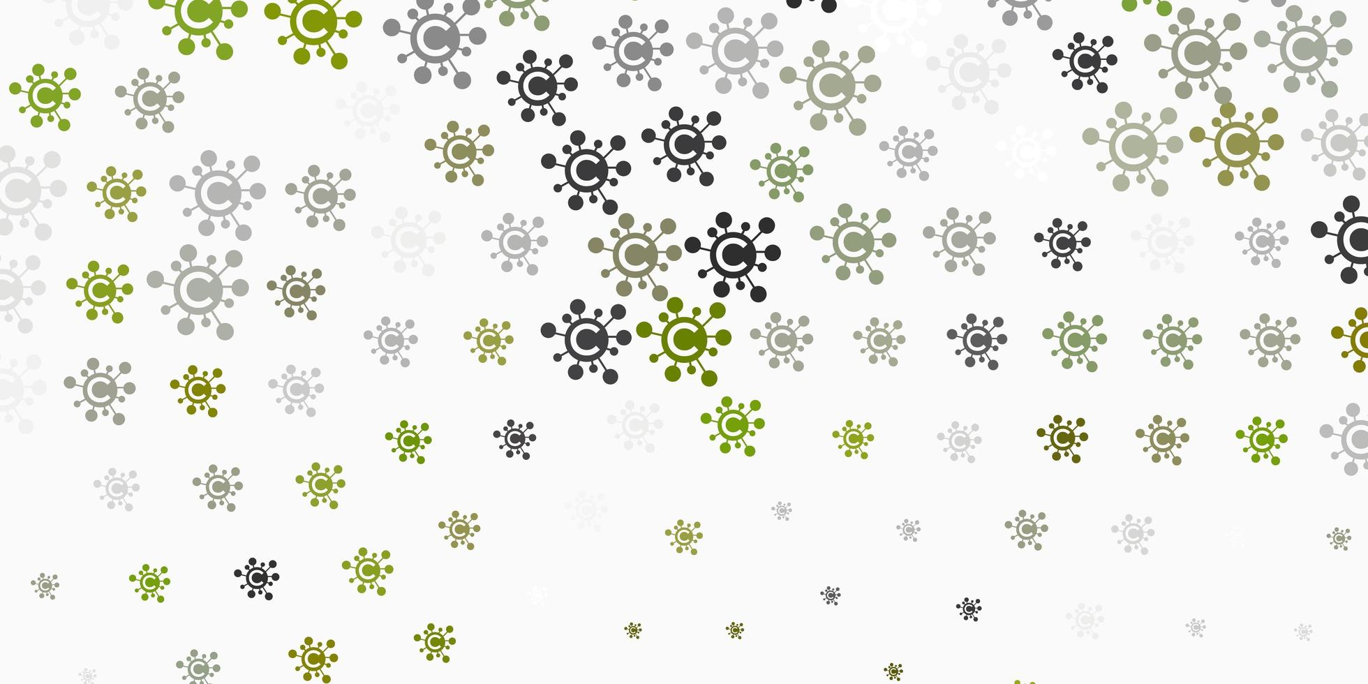 Light Gray vector pattern with coronavirus elements.