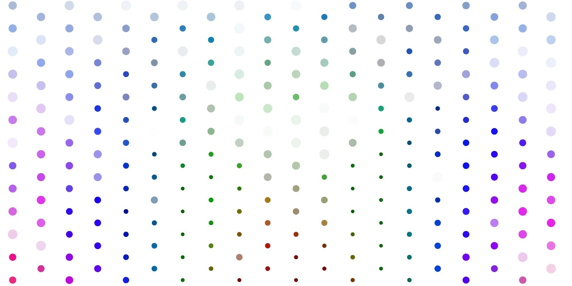 Light multicolor vector template with circles.