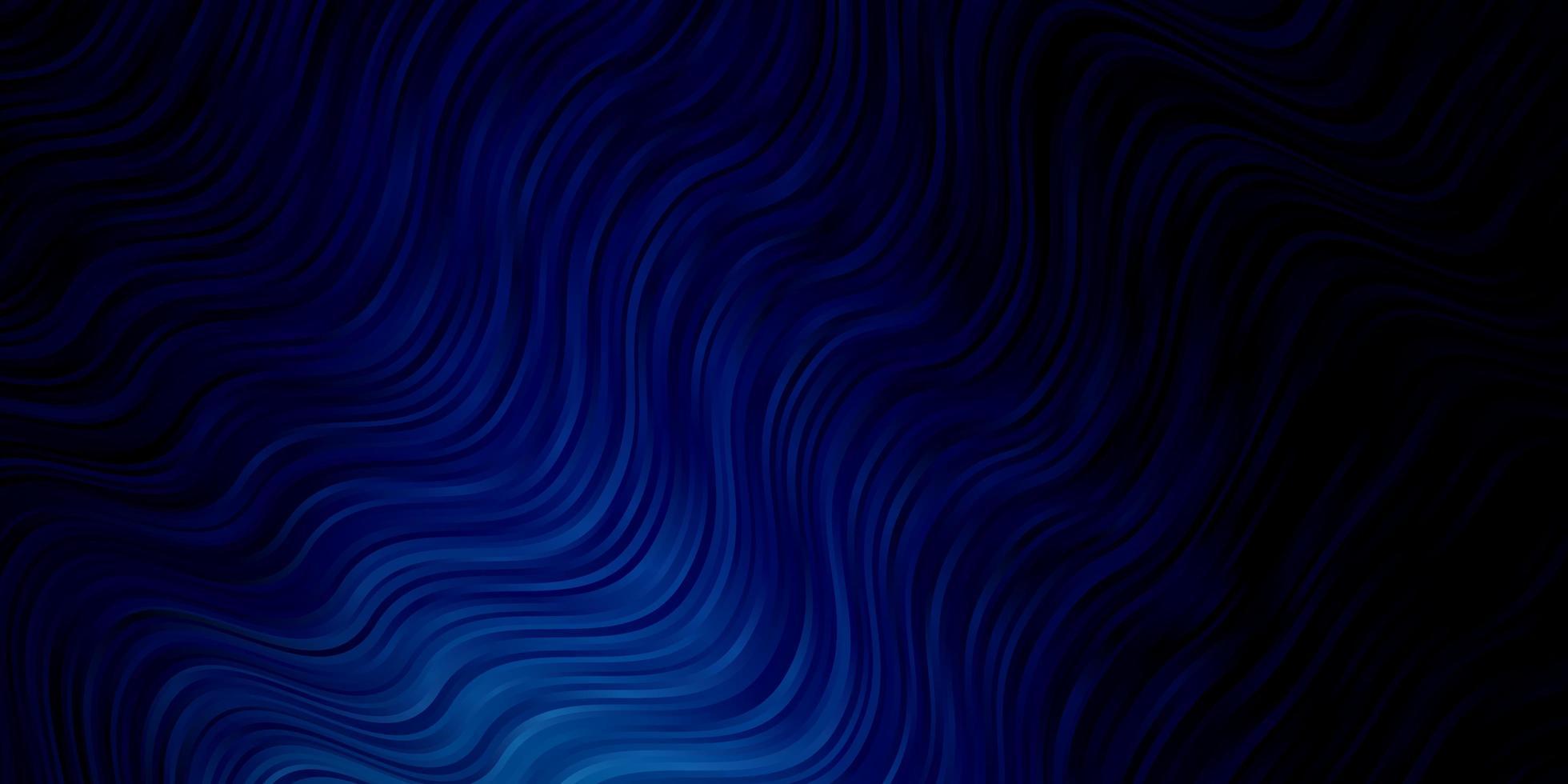 Fondo de vector azul oscuro con líneas dobladas