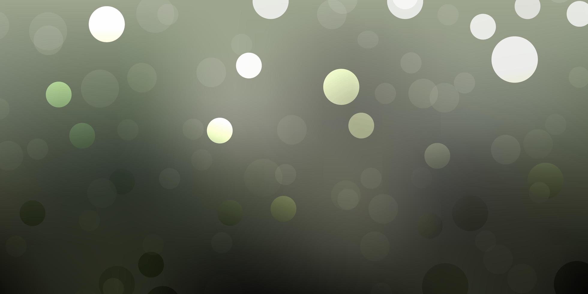 Light gray vector background with bubbles.