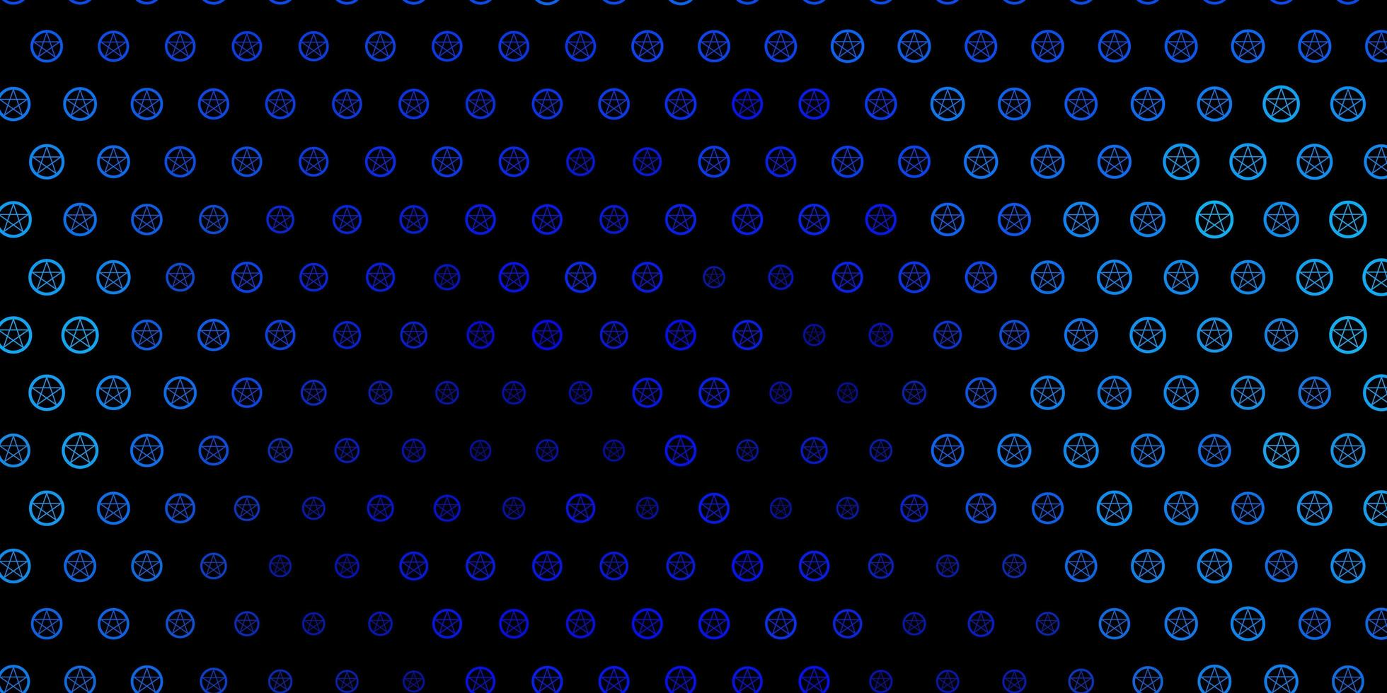 Dark BLUE vector template with esoteric signs.