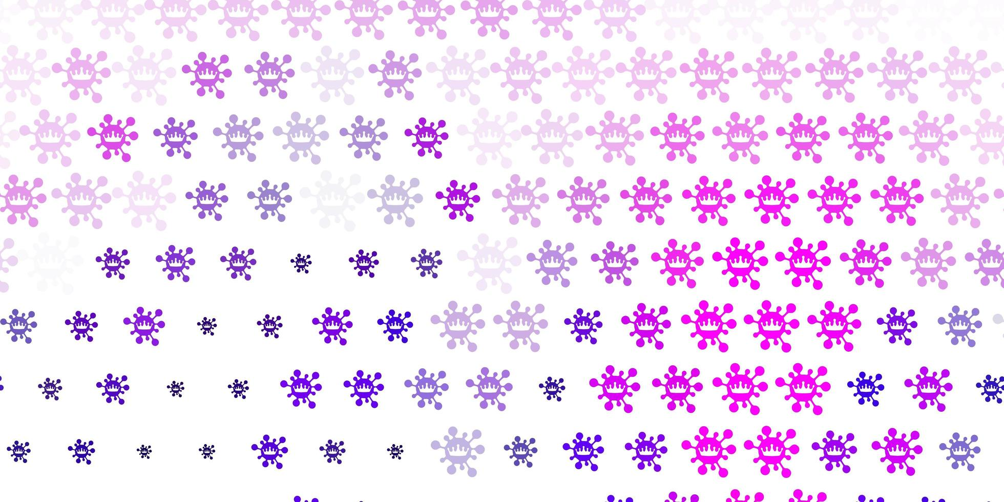 Light Purple vector texture with disease symbols.