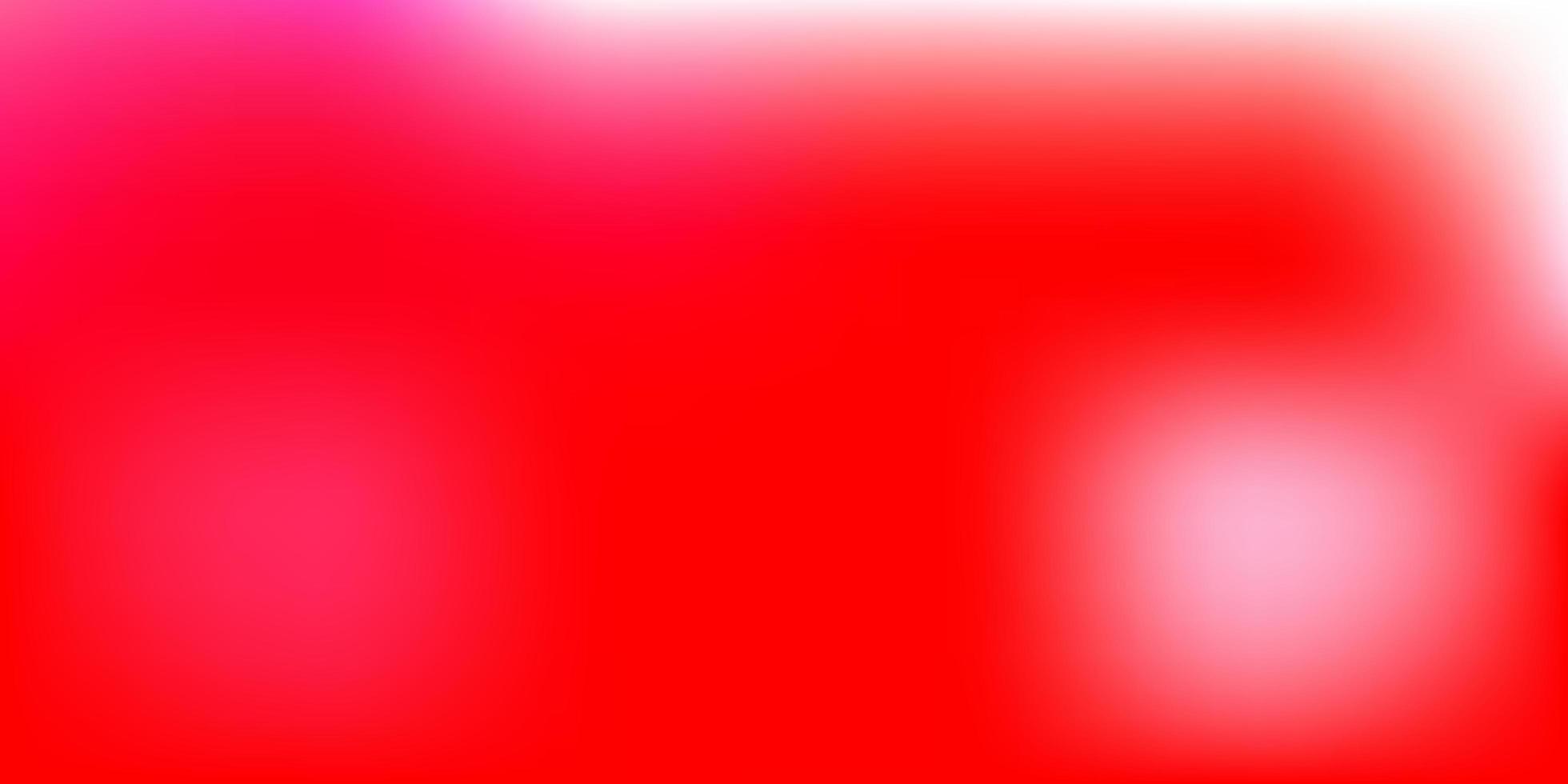 diseño de desenfoque degradado de vector rojo claro.