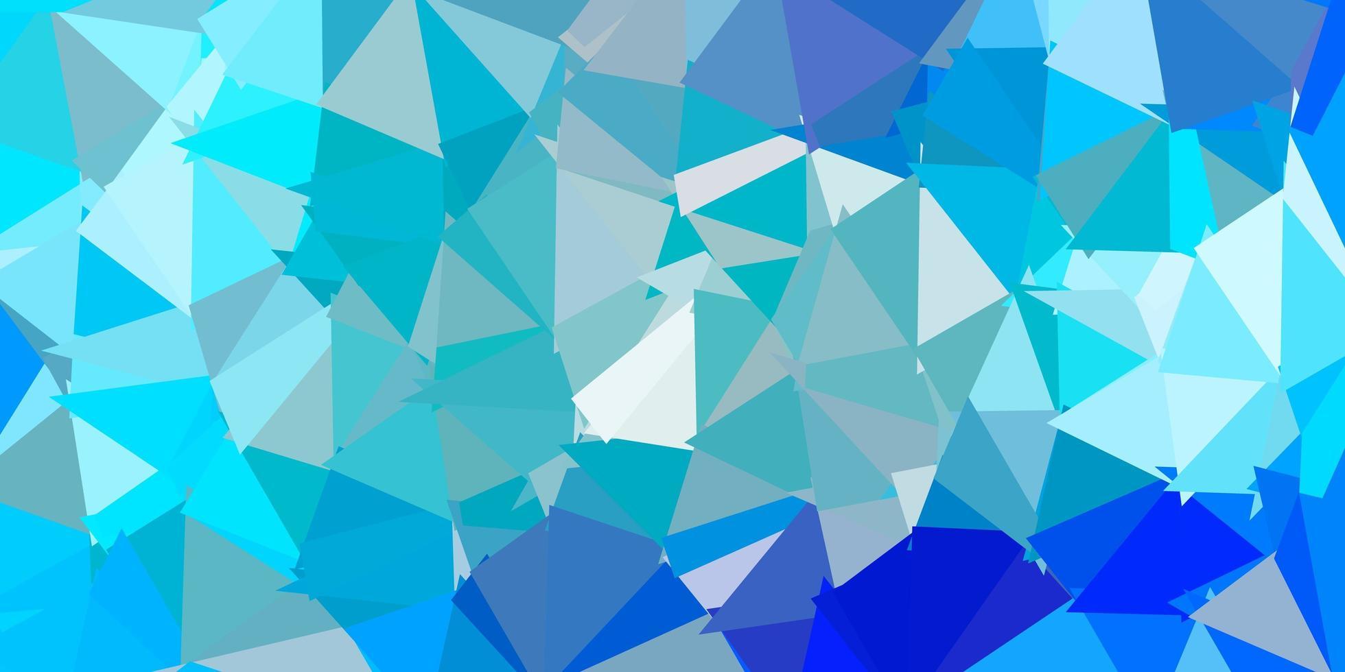 telón de fondo de triángulo abstracto vector azul claro.