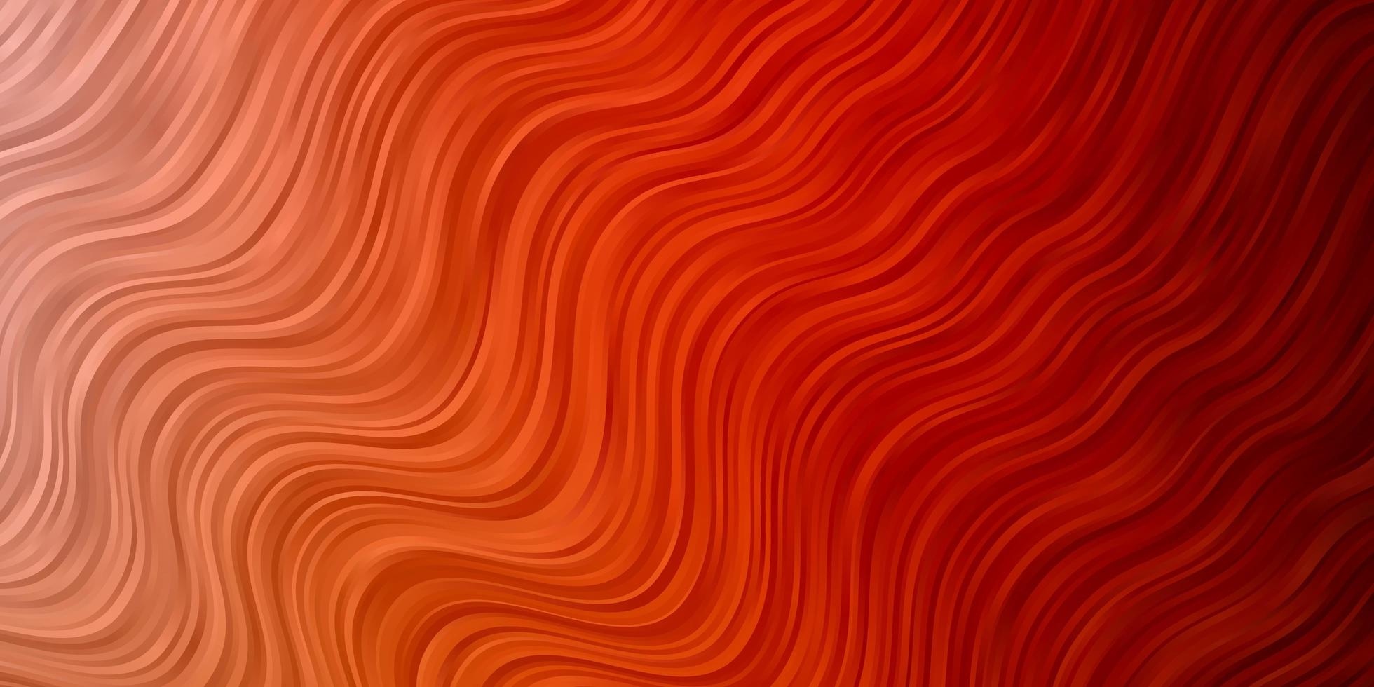 Light Orange vector texture with curves.