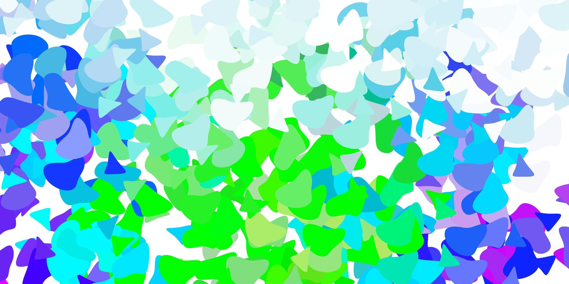 Light multicolor vector backdrop with chaotic shapes.