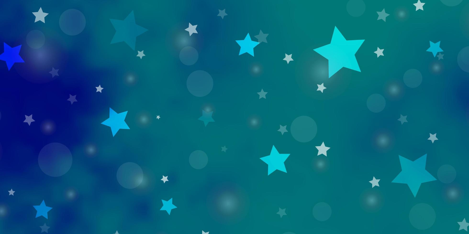 Light BLUE vector pattern with circles, stars.