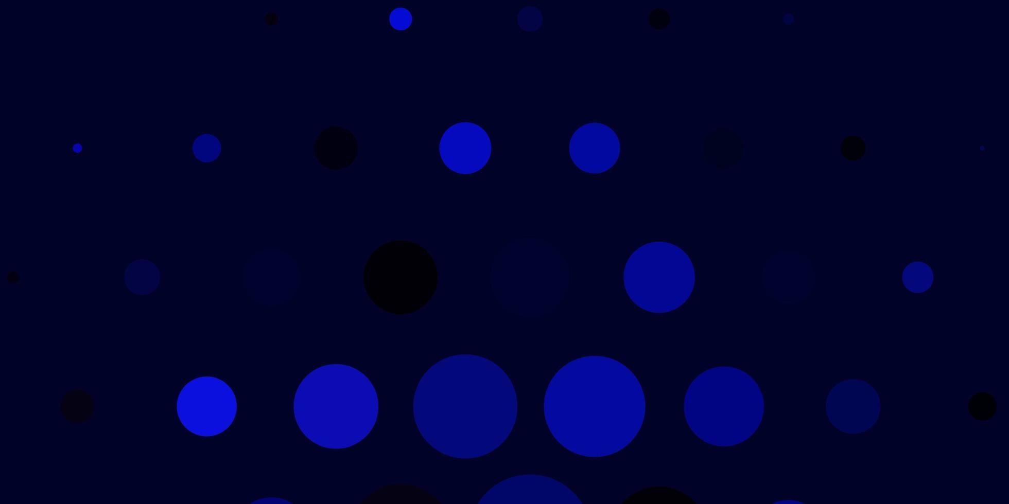 diseño de vector azul oscuro con círculos.
