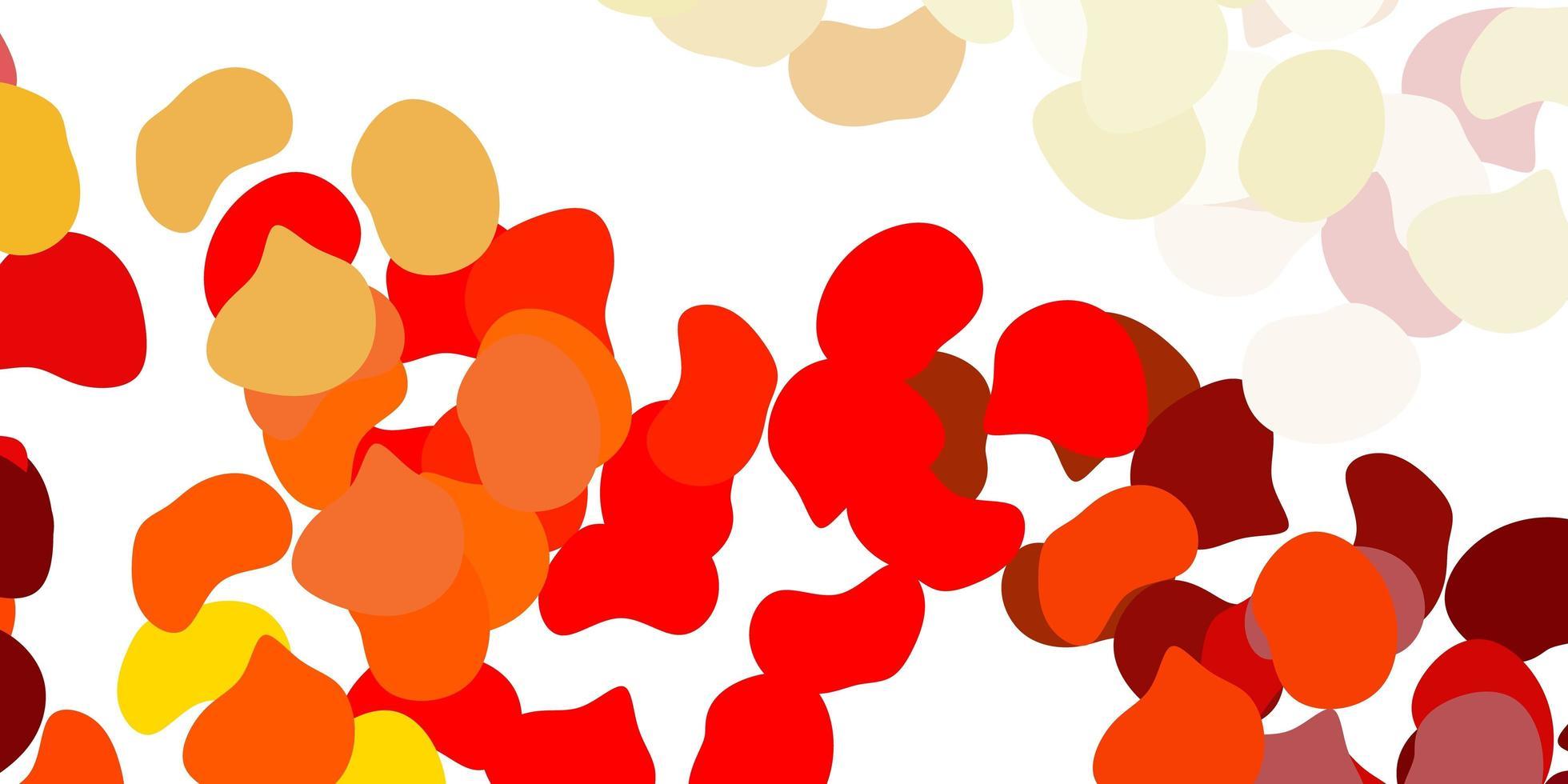 plantilla de vector naranja claro con formas abstractas.