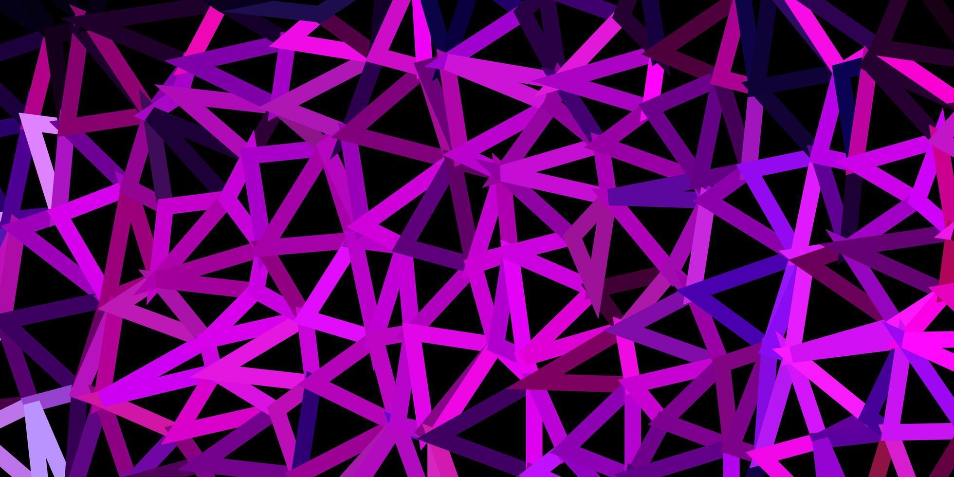 Dark purple, pink vector polygonal background.