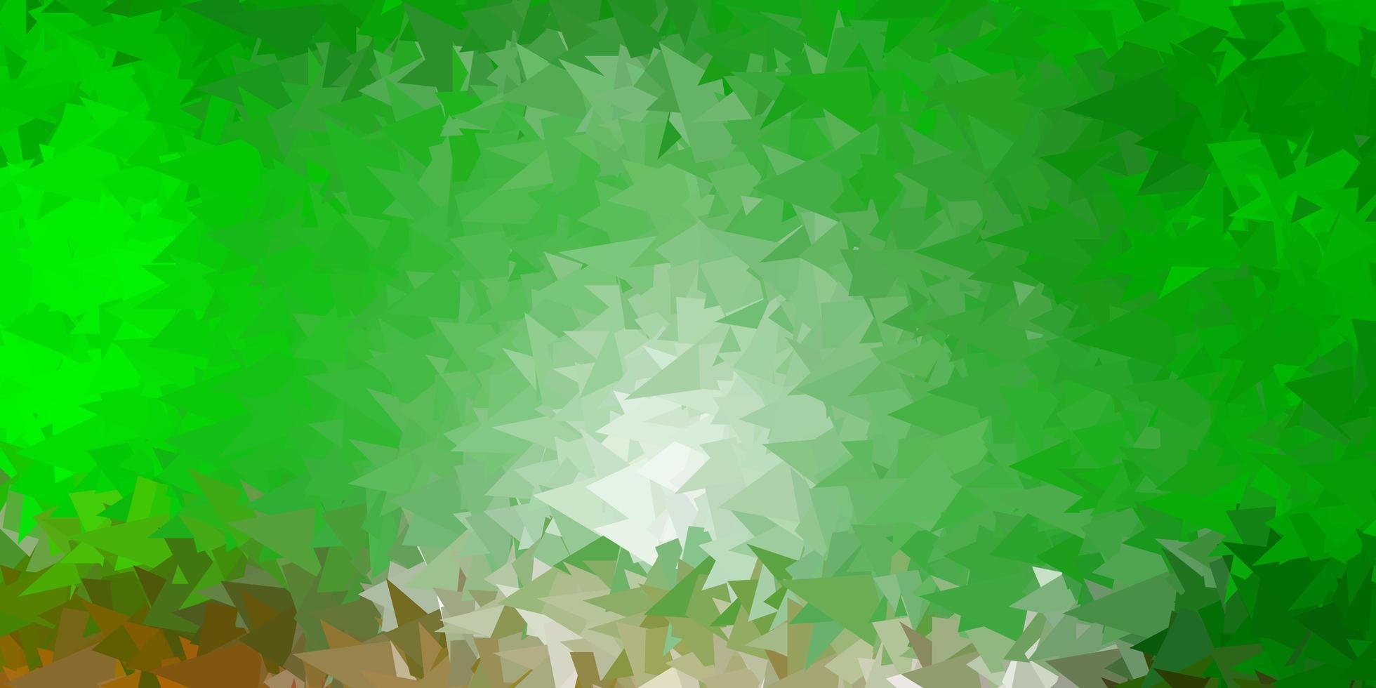 diseño de mosaico de triángulo vector verde claro, rojo.
