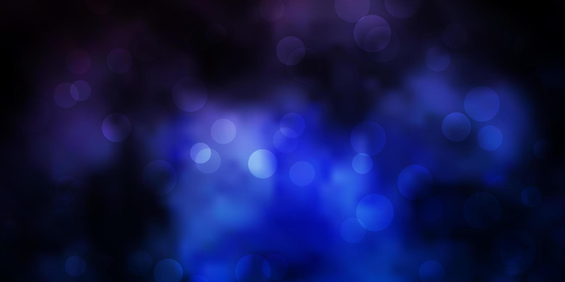 Dark BLUE vector background with spots.
