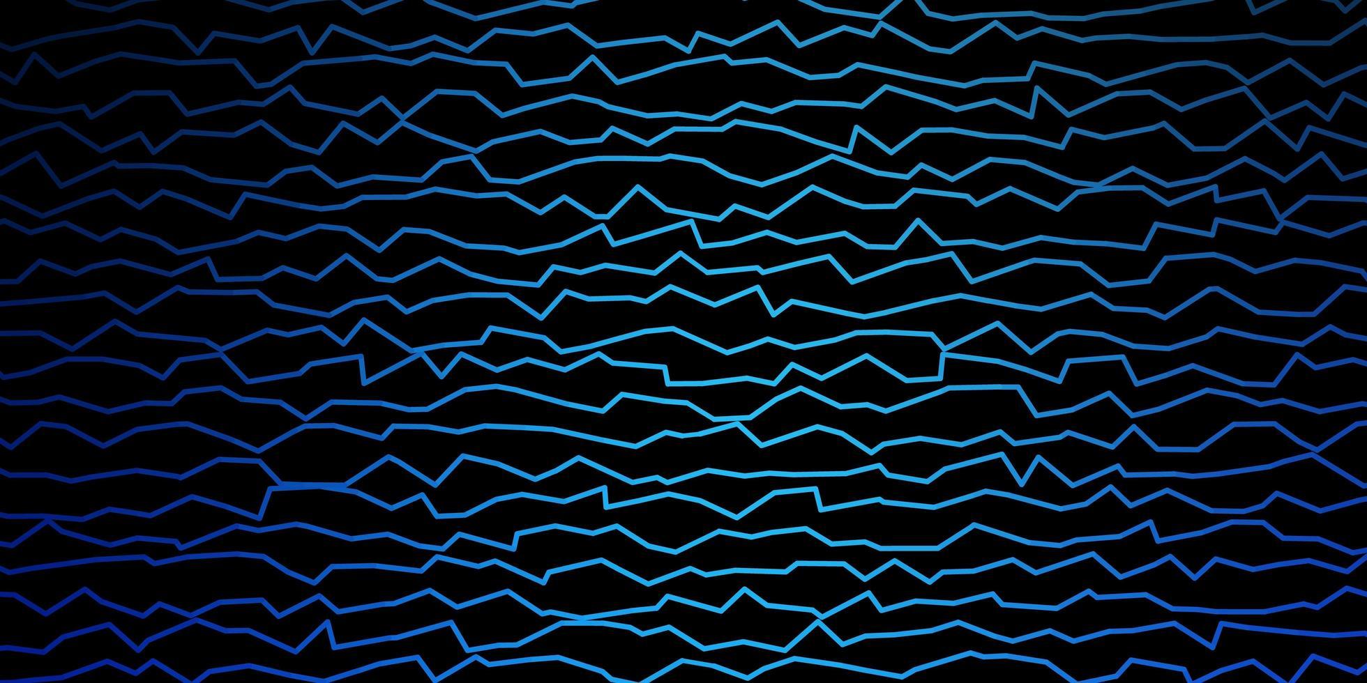 Dark BLUE vector texture with curves
