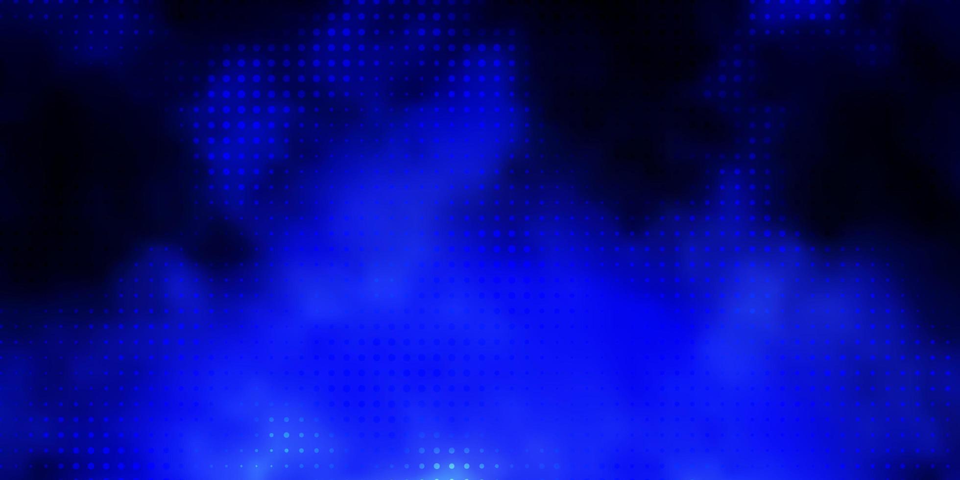 diseño de vector azul oscuro con formas circulares