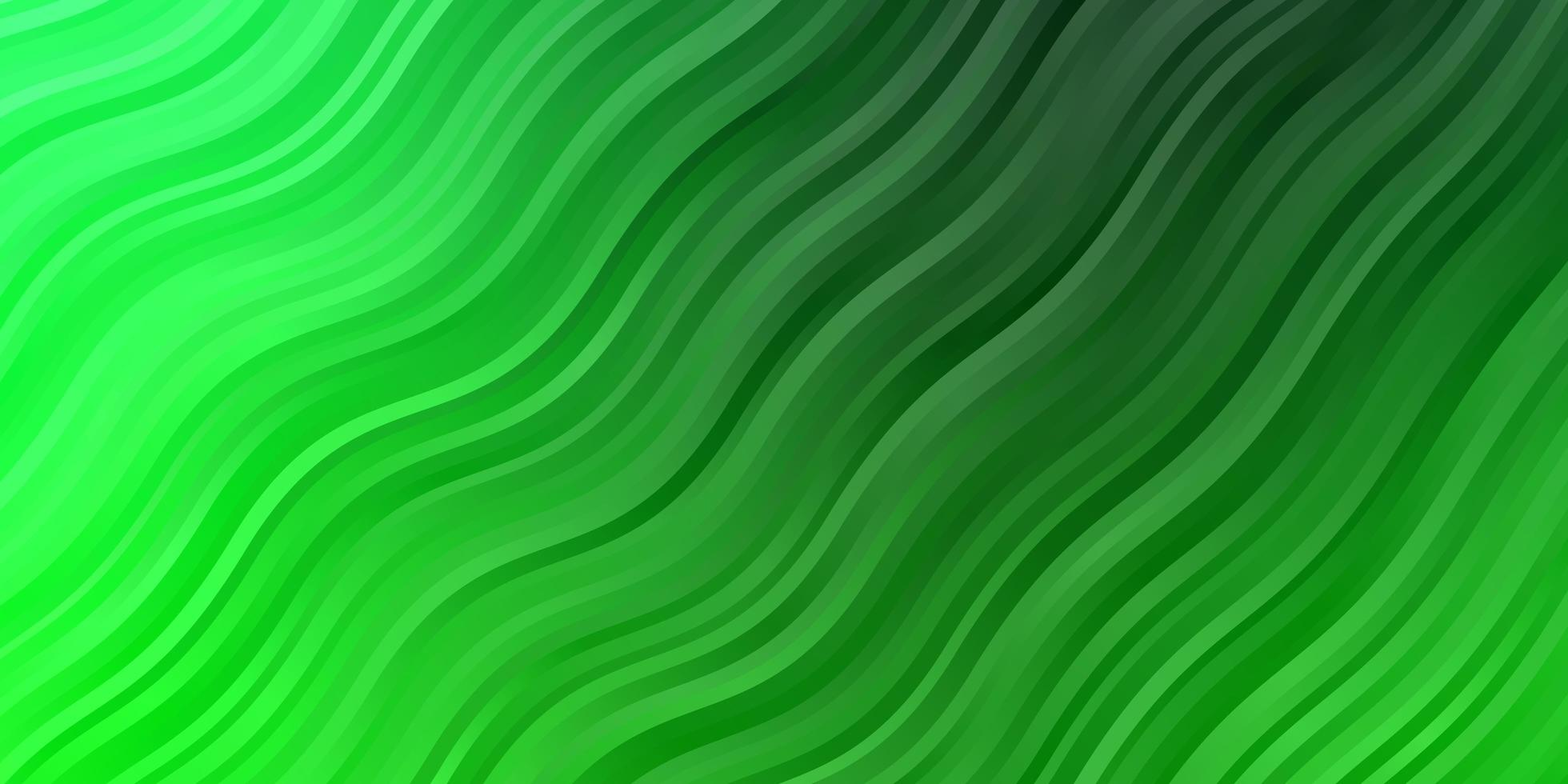 Dark Green vector template with curves.