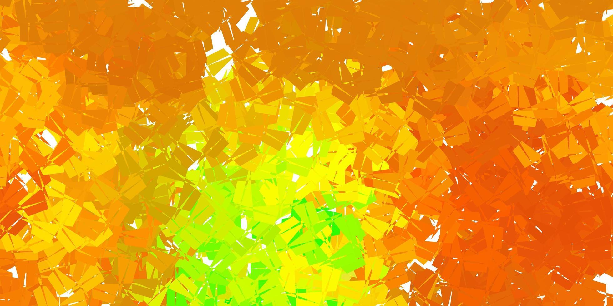 diseño poligonal geométrico vector verde oscuro, amarillo.