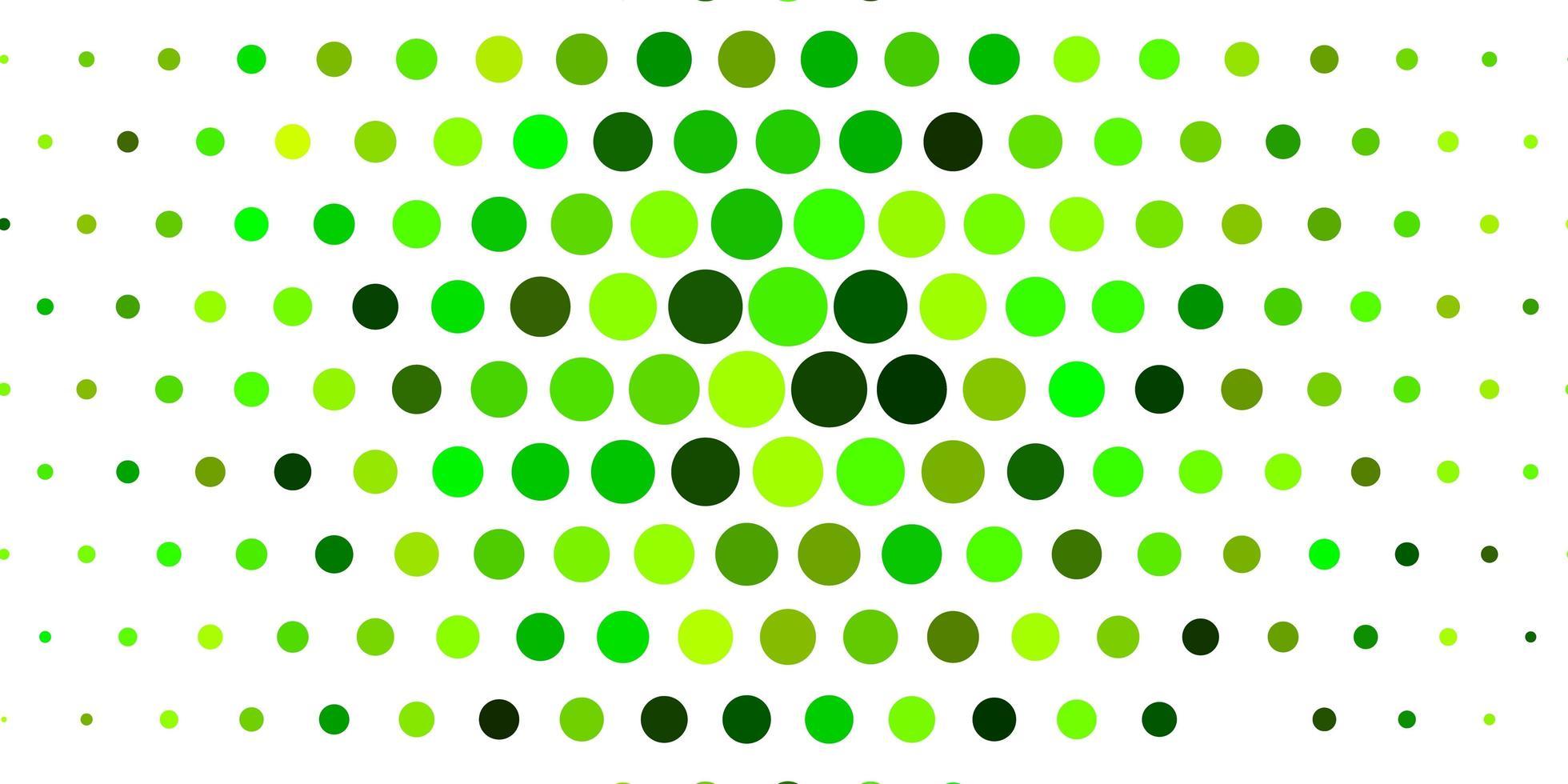 patrón de vector verde claro con esferas