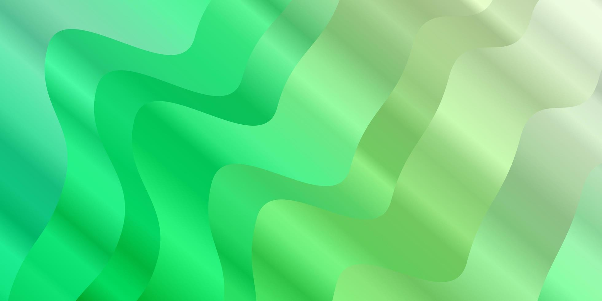 Light Green vector pattern with wry lines.