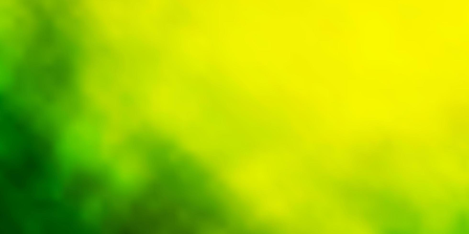 Light Green, Yellow vector layout with cloudscape.