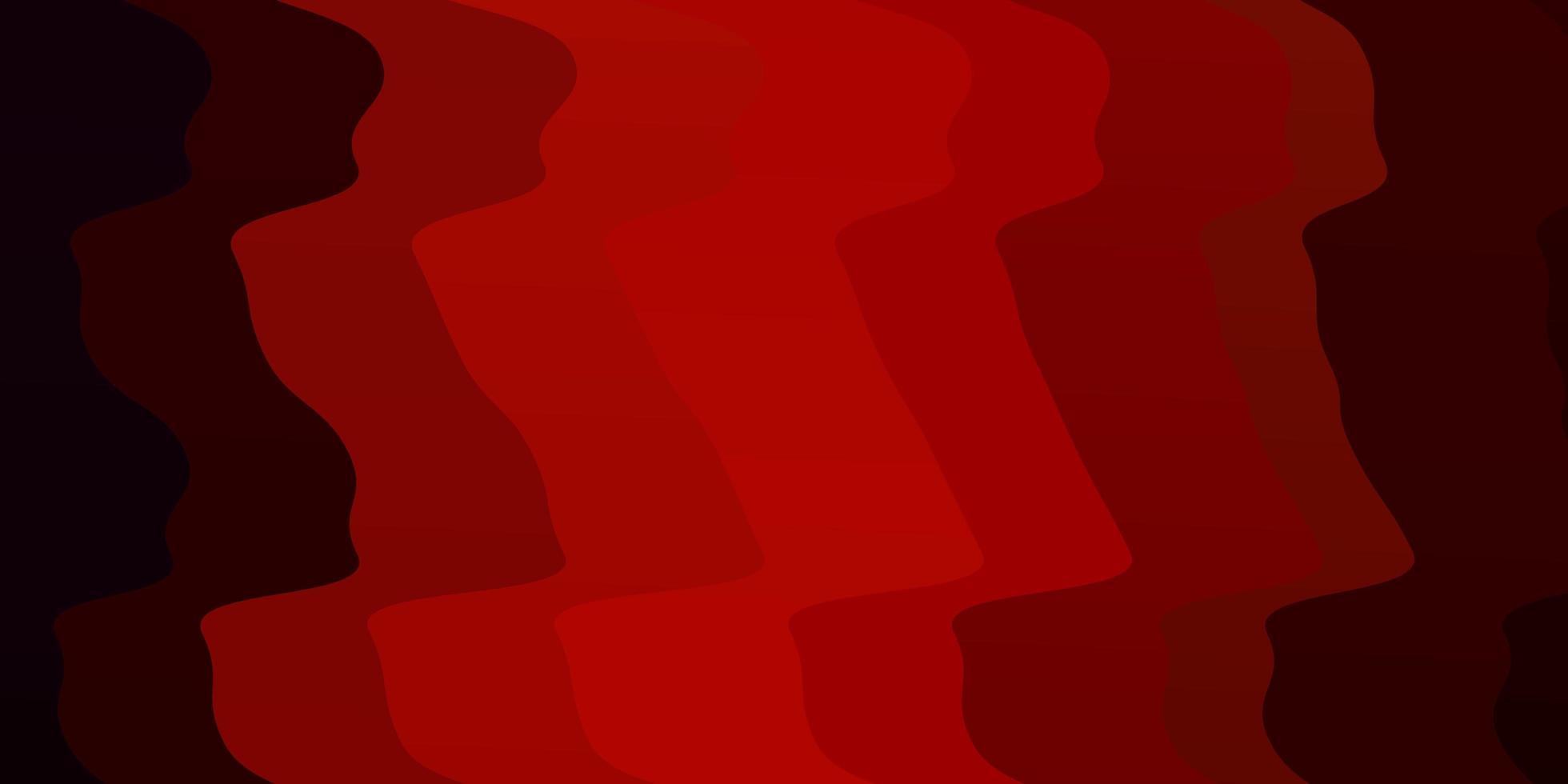 diseño de vector rojo oscuro con curvas.