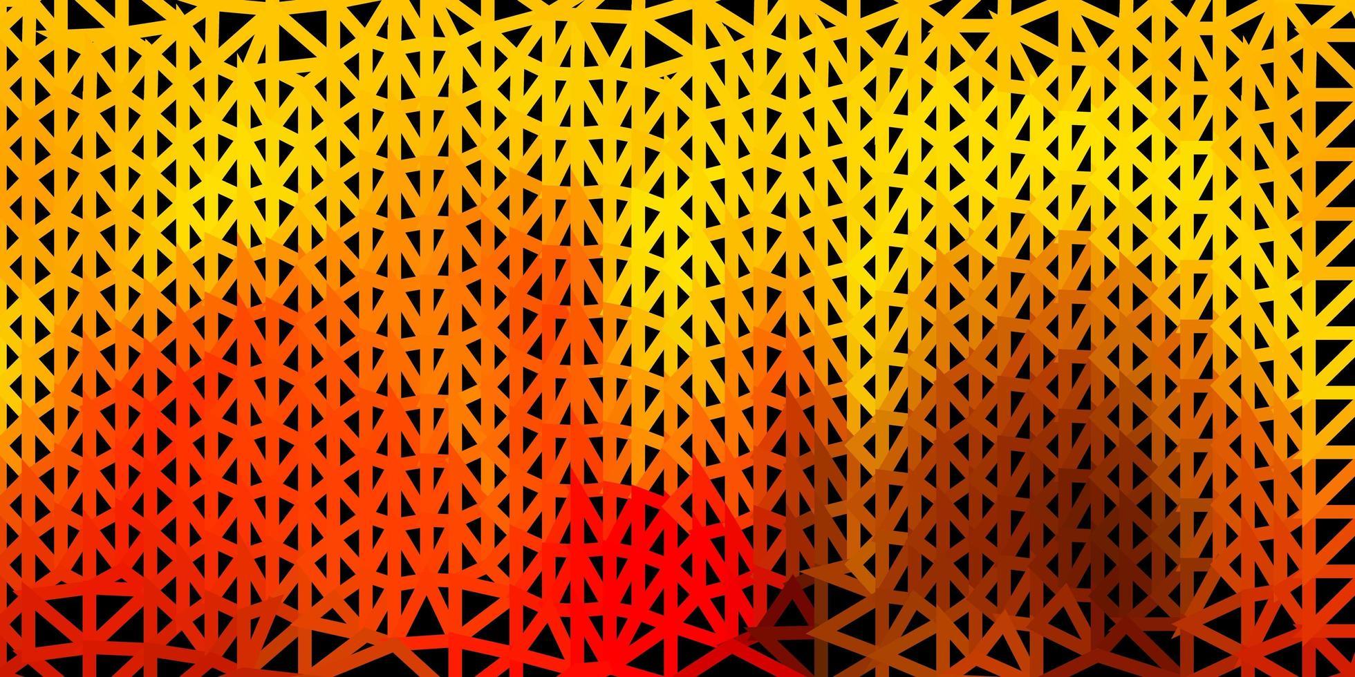 papel tapiz poligonal geométrico vector rojo claro, amarillo.