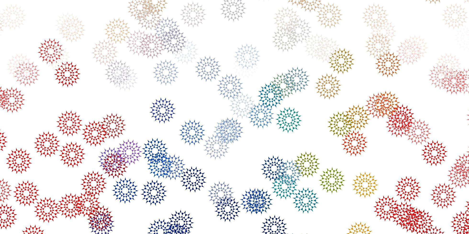 Telón de fondo natural de vector azul claro, amarillo con flores.