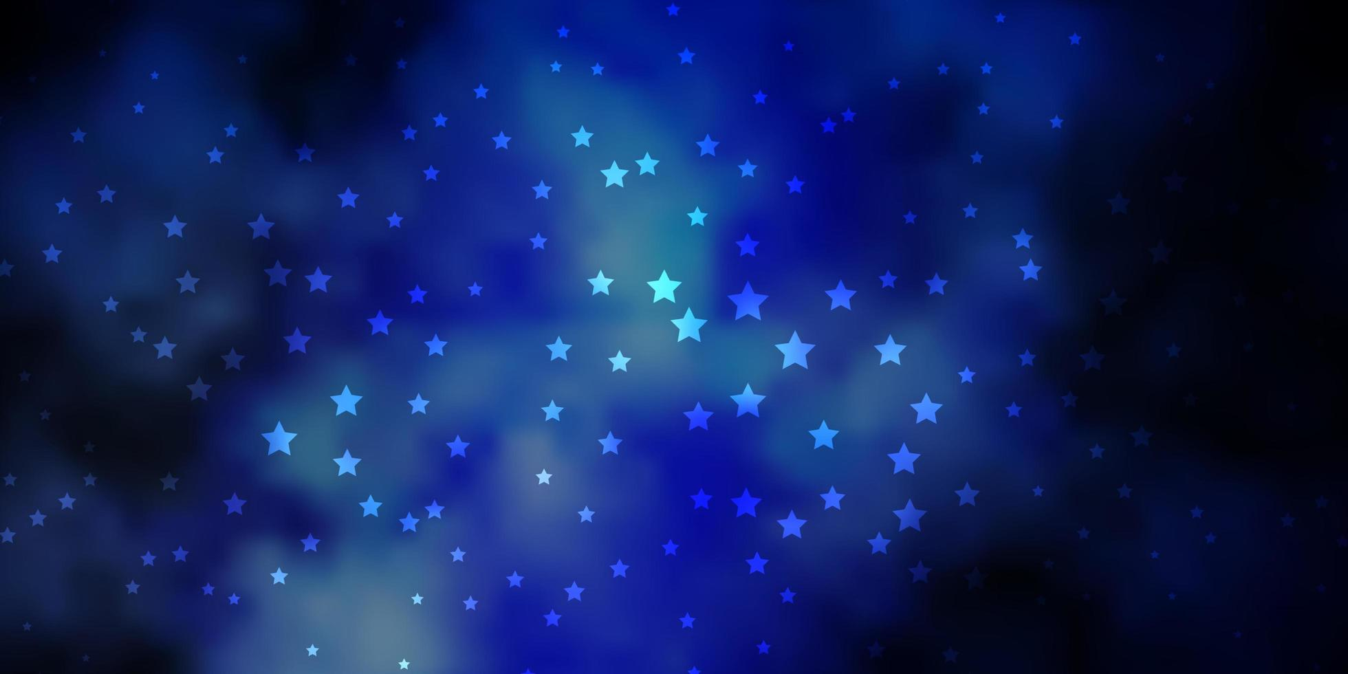 Dark BLUE vector pattern with abstract stars.