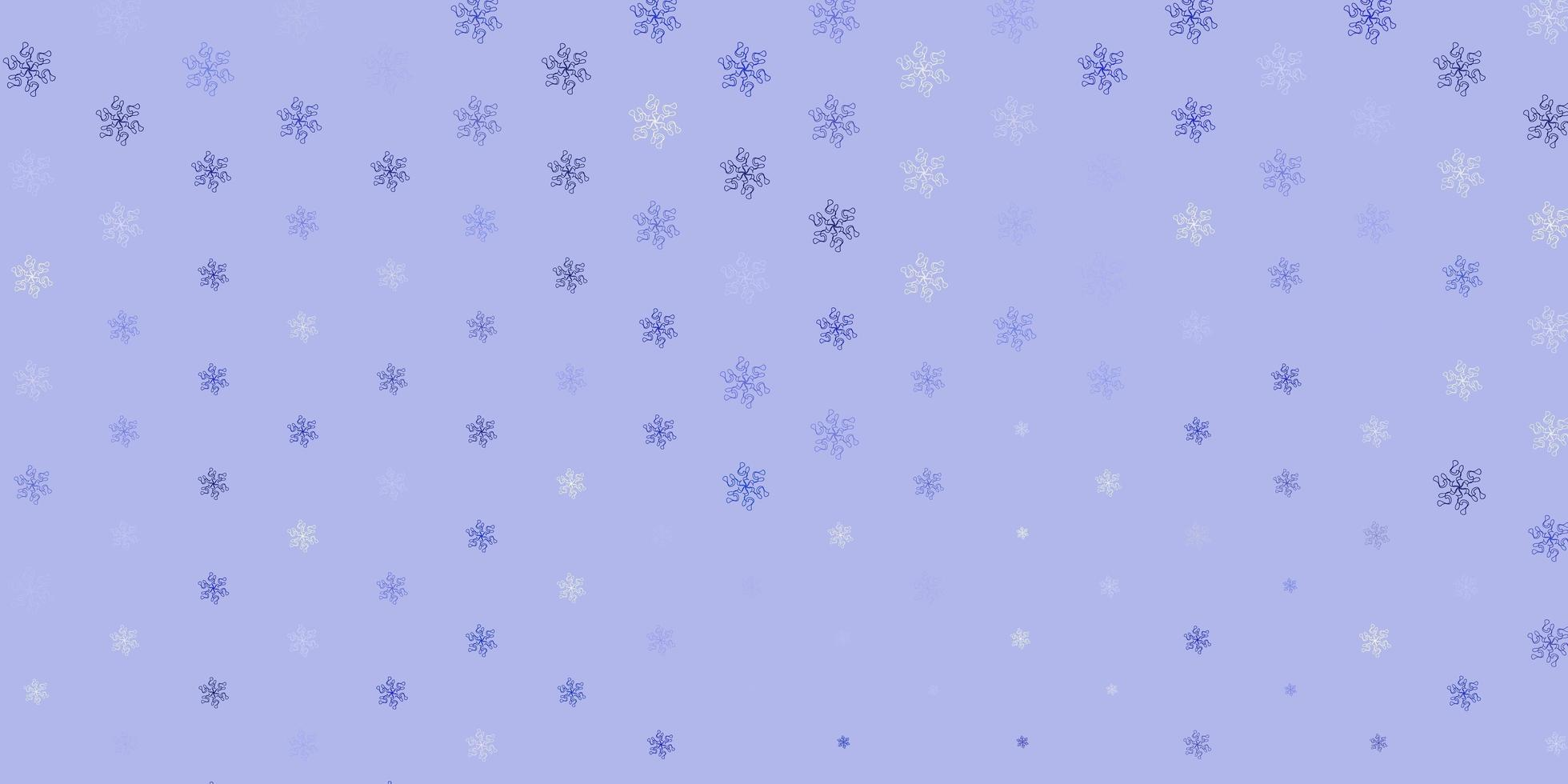telón de fondo natural vector azul claro con flores.